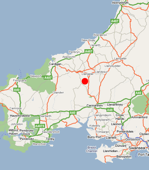Example Site Map Location: Welsh Retreat » Contact Us